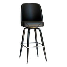 Exton Black Square Stool 17 1/2'' Black Bucket Seat