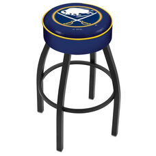 Buffalo Sabres 25'' Black Wrinkle Finish Swivel Backless Counter Height Stool with 4'' Thick Seat