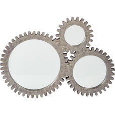 OSP Designs Elm Beveled Mirror - Gunmetal
