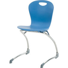 ZUMA Series Cantilever Chair with 18.75''H Seat Height - 20.75''W x 22.5''D x 32.13''H
