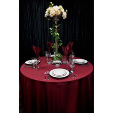 120'' Renaissance Stain Resistant Series Round Tablecloth - Burgundy