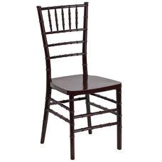 HERCULES PREMIUM Series Mahogany Resin Stacking Chiavari Chair