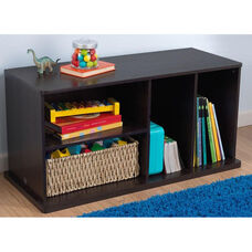 Kids 16.89''H Storage Unit with Four Storage Compartments - Espresso
