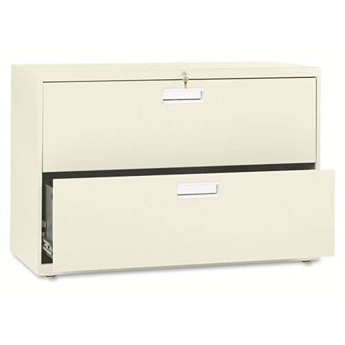 HON® 600 Series Two-Drawer Lateral File - 42w x 19-1/4d - Putty
