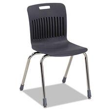 Virco® Analogy Ergonomic Stack Chair - Black/Chrome - 4/Carton