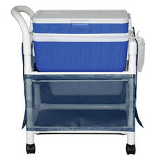 Ice Cart with Skirt Cover and Casters - 48 Quart - 20''W X 31''D X 37.5''H