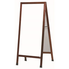 Extra Large A-Frame Sidewalk Board with White Melamine Marker Board and Cherry Stain Finished Solid Red Oak Frame - 30''W x 29''D x 68''H
