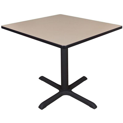 Cain 36'' Square Laminate Breakroom Table with PVC Edge - Beige