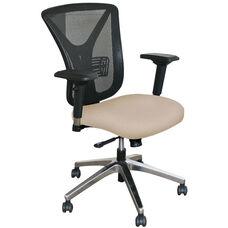 Fermata Executive Mesh Chair with Aluminum Base - Flax Fabric