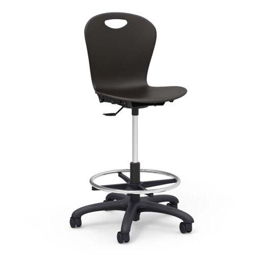 ZUMA Series Plastic Seat Drafting Stool - 24.13''W x 24.12''D x 34.5''H - 42''H