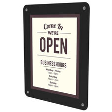 Double Sided Window Display Sign Holder with Suction Cups - Set of 6 - Clear