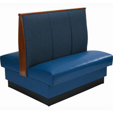 36''H Fully Upholstered 3-Channel Double Sided Booth - Grade 4 Vinyl