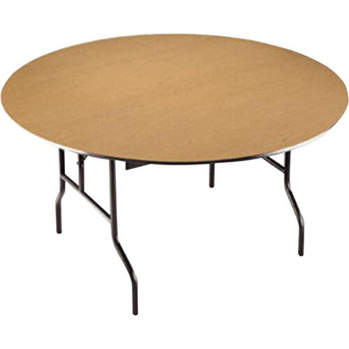 EF Series Quick Ship Plywood Core 60''Diameter Round Folding Table - 30''H