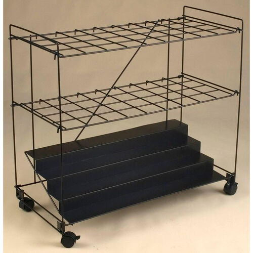 32'' H Rolling File Cart with 36 Openings - Black