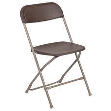 HERCULES Series 800 lb. Capacity Premium Brown Plastic Folding Chair