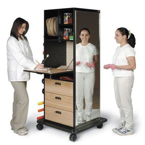 Mega-Rack Only with Full-View Distortion-Free Glass Mirror- 32''W X 32''L X 72''H