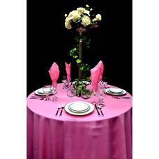 60'' x 60'' Renaissance Stain Resistant Series Square Tablecloth - Bubble Gum
