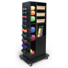 68''H Rectangular Compact Weight Rack with Casters - Black