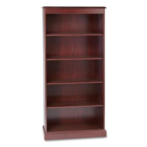 HON® 94000 Series Five-Shelf Bookcase - 35-3/4w x 14-5/16d x 78-1/4h - Mahogany