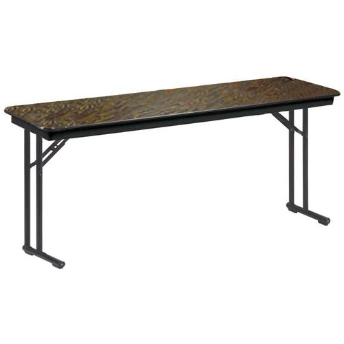 E Series Comfort Leg Seminar Plywood Core Folding Table - 18''W x 60''L x 30''H