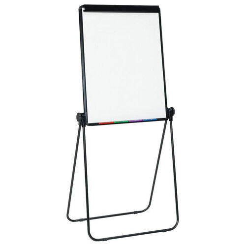 Docu-Point Height Adjustable Easel with Presentation Board and Storage Tray - Black