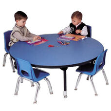 Adjustable Height Round 1.125'' Table