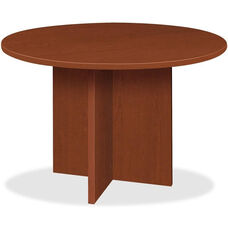 Basyx 48'' Round Conference Table with X-Base - Medium Cherry