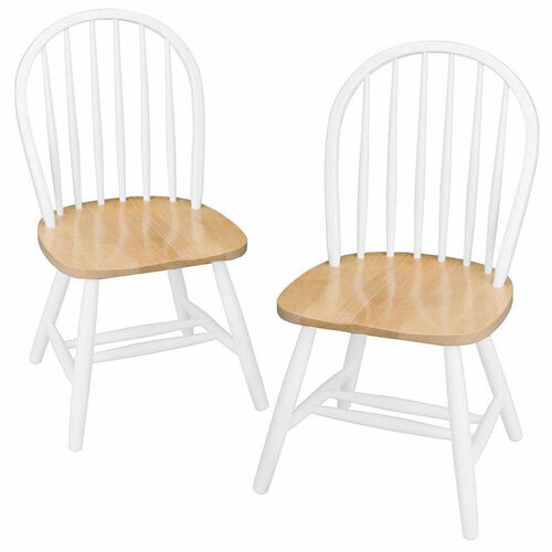 Windsor Chair in White-Set of 2