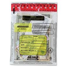 MMF Tamper-Evident Deposit Bag - 9'' x 12'' - Plastic - Clear