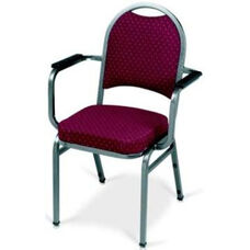 Prestige Banquet Stack Chair with Waterfall Style Seat and Arms - Crescent Back