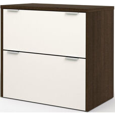 Contempo Lateral File with Scratch and Stain Resistant Finish - Tuxedo and Sandstone