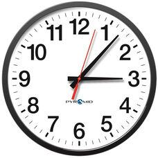 TimeTrax Sync 13'' Analog Clock with Shatterproof Polycarbonate Lens - 12 Hour Face