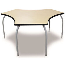 ELO Tri High Pressure Laminate Table with Adjustable Legs and 1.25'' Beveled Armor Edge Top - 38.82''W x 60''D x 26-31''H