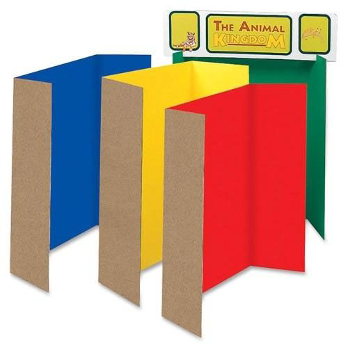 Pacon Single Walled Presentation Board -48'' x 36'' -4/ST -Assorted