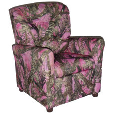 Kids Recliner with Button Tufted Back - True West Pink
