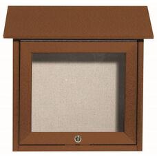 Cedar Slimline Series Top Hinged Single Door Plastic Lumber Message Center with Vinyl Surface - 18''H x 18''W
