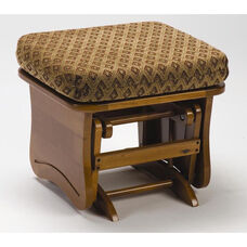 Maple Wood 15.5''H Ottoman with Solid Side Panel - Maple Finish