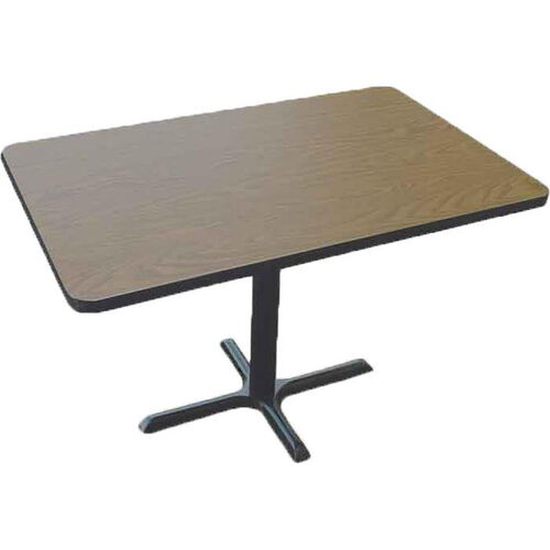 Laminate Top Rectangular Cafe Table with Cast Iron X-Base - 30''D x 42''W