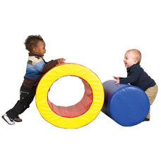 SoftZone® 2 Piece Bright Colors Vinyl Covered Foam Barrels of Fun