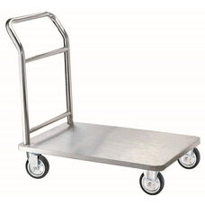 Four Wheeled Bellman's Hand Truck - Chrome Finish