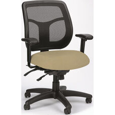 Apollo 26'' W x 20'' D x 36'' H Adjustable Height Mesh Back Multi Function Task Chair - Fabrix