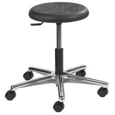 Industrial Polyurethane Stool with Round Seat and Metal Base