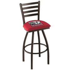 University of Alabama 25'' Black Wrinkle Finish Swivel Counter Height Stool with Ladder Style Back