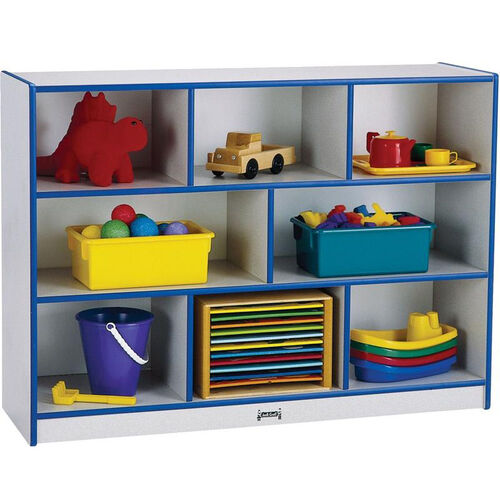 Rainbow Accents Super-Sized Mobile Storage Unit with Eight Cubbies