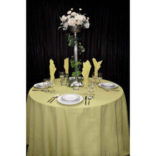 108'' Renaissance Stain Resistant Series Round Tablecloth - Buttercup
