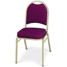 Prestige Banquet Stack Chair with Waterfall Style Seat - Crescent Back