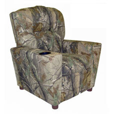 Kids Camouflage True Timber Theater Recliner with Cup Holder - Conceal