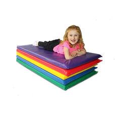 Rainbow Vinyl 2'' Thick Non-Foldable Designer Rest Mat - 22''W x 48''D X 2''H - Blue