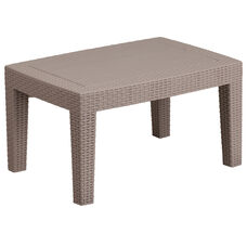 Charcoal Faux Rattan Coffee Table
