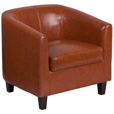 Cognac Leather Lounge Chair